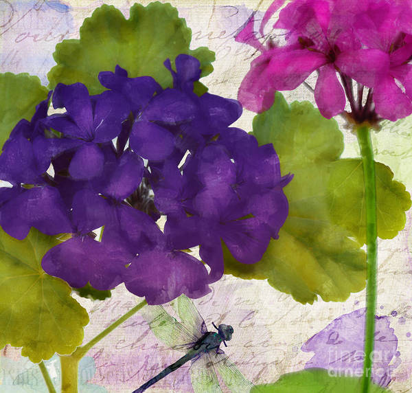 Geranium Wall Art - Painting - Gaia I by Mindy Sommers
