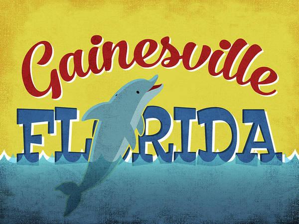 Advertisement Digital Art - Gainesville Florida Dolphin by Flo Karp