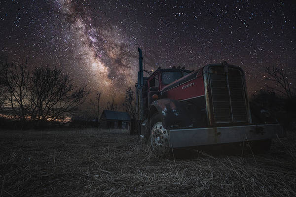 Semi Truck Photograph - Galactic Big Rig by Aaron J Groen