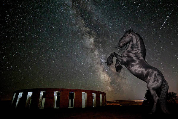 Photograph - Galactic Friesian Fantasy by Wes and Dotty Weber