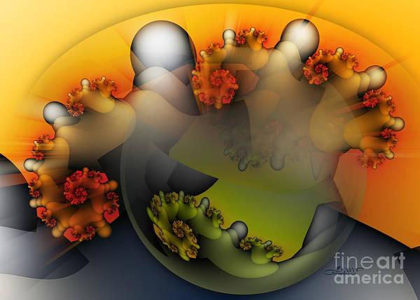Fading Digital Art - Galactic Sunrise by Jutta Maria Pusl