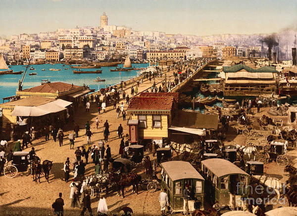 Painting - Galata And View Of Pera Constantinople by Celestial Images