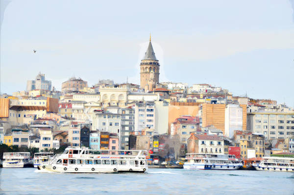 Painting - Galata Tower , Istanbul Turkey by Asar Studios