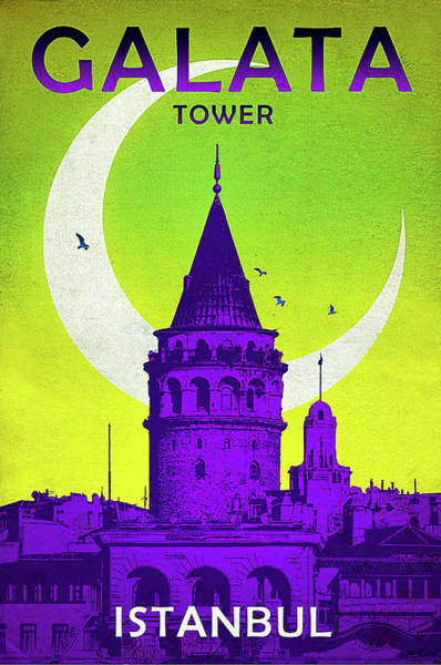 Istanbul Painting - Galata Tower, Istanbul, Turkey by Long Shot