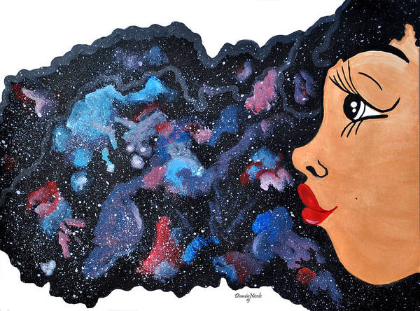 Red Painting - Galaxy  by Diamin Nicole