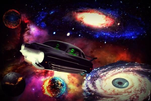 Digital Art - Galaxy Drive by Wesley Nesbitt