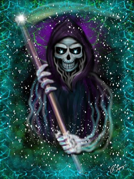 Painting - Galaxy Grim Reaper Fantasy Art by Raphael Lopez