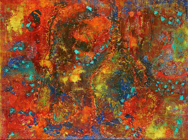 Oxidation Painting - Galaxy by Tabasom  Noorbakhsh