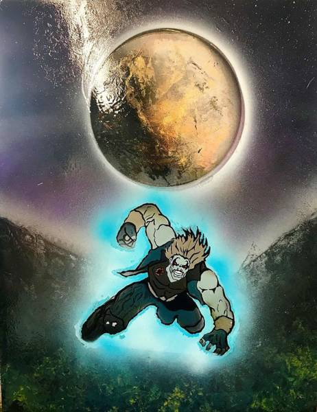 Wall Art - Painting - Galaxy Warrior by Willy Proctor