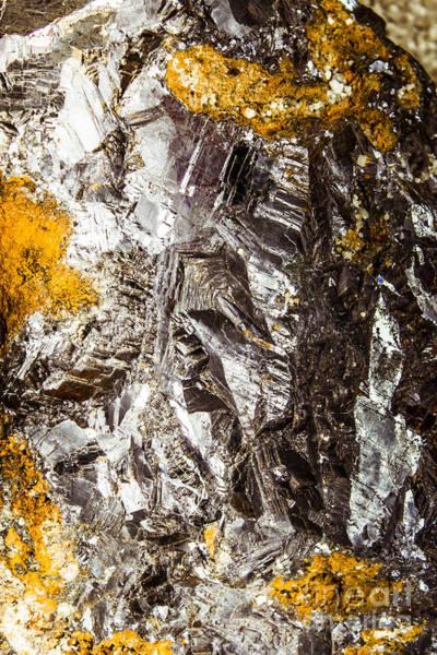Rare Earth Wall Art - Photograph - Galena Metallic Ore Closeup by Jorgo Photography - Wall Art Gallery