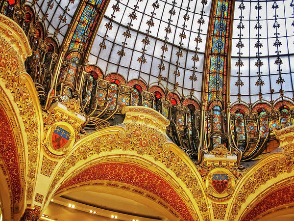 Galeries Lafayette Photograph - Galeries Lafayette Dome by David Thompson