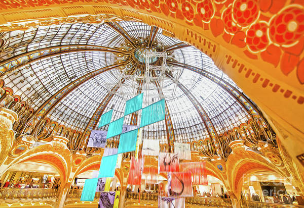 Galeries Lafayette Photograph - Galeries Lafayette Inside 10 Art by Alex Art and Photo