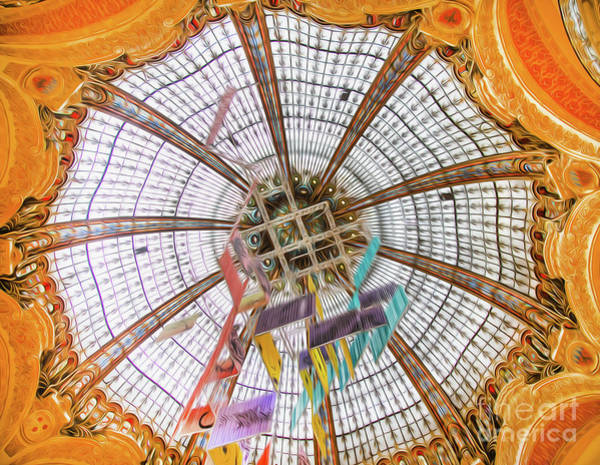 Galeries Lafayette Photograph - Galeries Lafayette Inside 11 Art by Alex Art and Photo