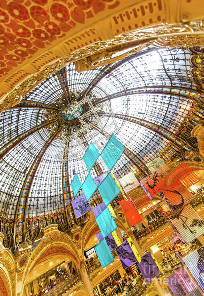 Galeries Lafayette Photograph - Galeries Lafayette Inside 26  by Alex Art and Photo