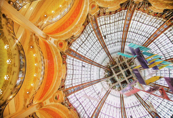 Galeries Lafayette Photograph - Galeries Lafayette Inside 3 Art by Alex Art and Photo