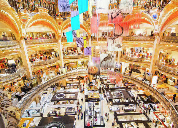 Galeries Lafayette Photograph - Galeries Lafayette Inside 5 Art by Alex Art and Photo