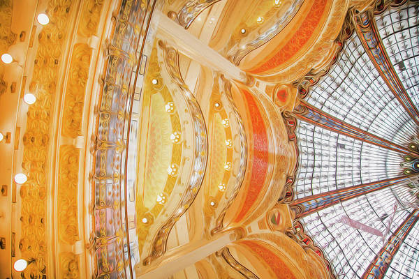 Galeries Lafayette Photograph - Galeries Lafayette Inside 6 Art by Alex Art and Photo