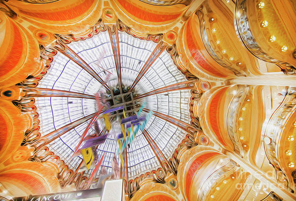 Galeries Lafayette Photograph - Galeries Lafayette Inside 4 Art by Alex Art and Photo
