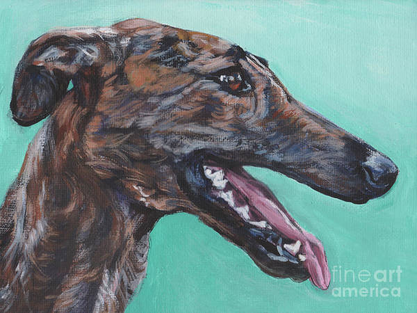 Wall Art - Painting - Galgo Espanol Spanish Greyhound by Lee Ann Shepard