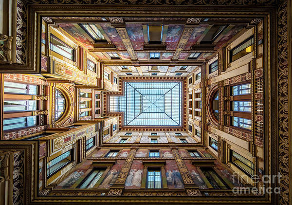Photograph - Galleria Ceiling by Inge Johnsson