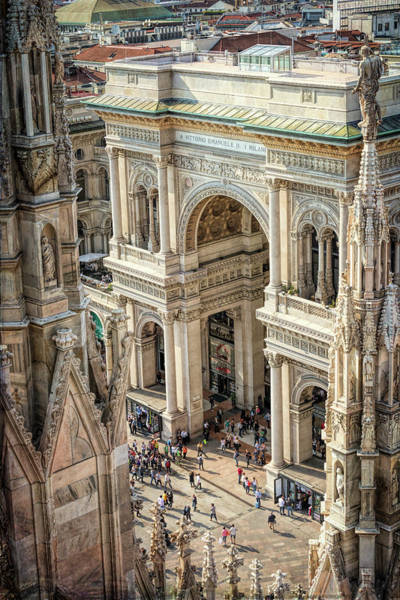 Wall Art - Photograph - Galleria Milan Italy From Above by Joan Carroll