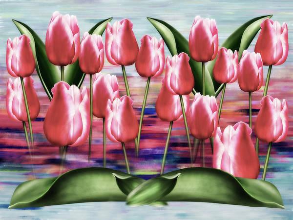Tulips Mixed Media - Gallery Of Tulips Semi Abstract by Georgiana Romanovna