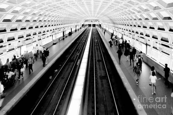 Train Photograph - Gallery Place Metro by Thomas Marchessault