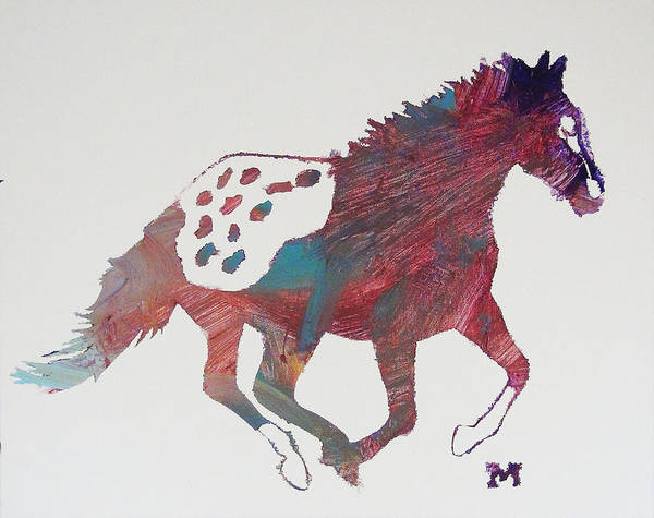 Painting - Galloping Apaloosa by Candace Shrope
