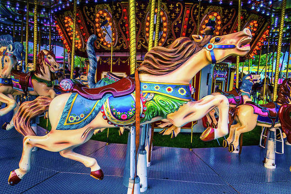 Photograph - Galloping Carrousel Horse by Garry Gay