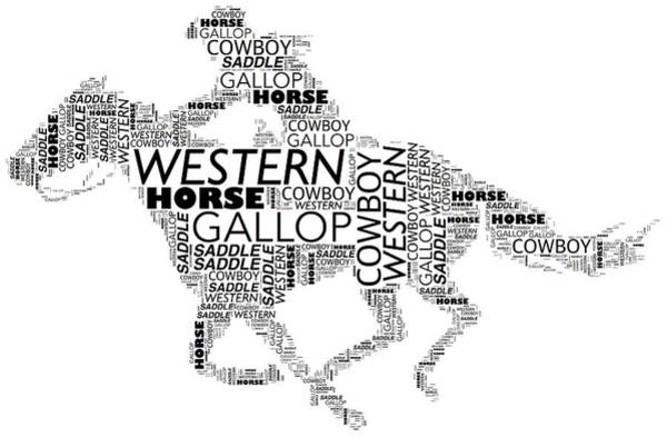 Digital Art - Galloping Cowboy by Alice Gipson