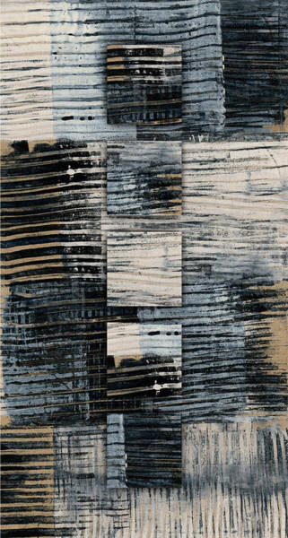 Mixed-media Photograph - Galvanized Paint Number 1 Vertical by Carol Leigh