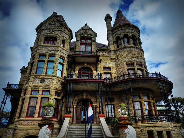 Photograph - Galveston - Bishop's Palace 001 by Lance Vaughn