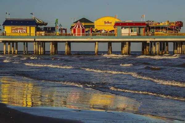 Photograph - Galveston Pleasure Pier  by Kathy Adams Clark