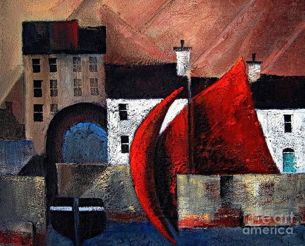 Painting - Galway ... Spanish Arch by Val Byrne