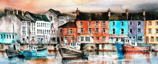 Painting - Galway Citie ... Inner Harbour by Val Byrne