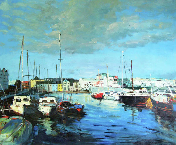 Wall Art - Painting - Galway Docks by Conor McGuire