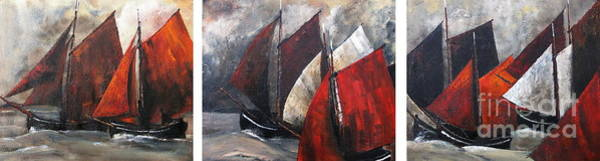 Painting - Galway Hookers Regatta by Val Byrne