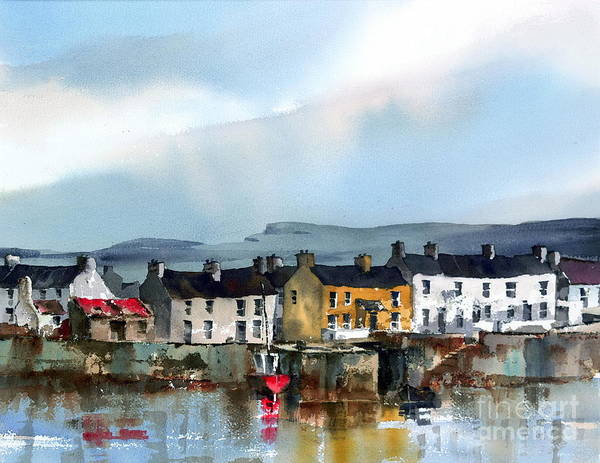 Painting - Galway.. Inismore, Aran by Val Byrne