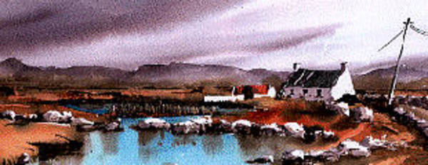 Painting - Galway...connemara. Still Evening  At Costello by Val Byrne