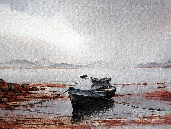 Painting - Galway...still Evening  At Erlak by Val Byrne