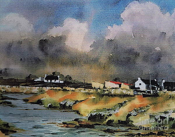 Painting - Galway...storm Clouds Over Sruthan by Val Byrne