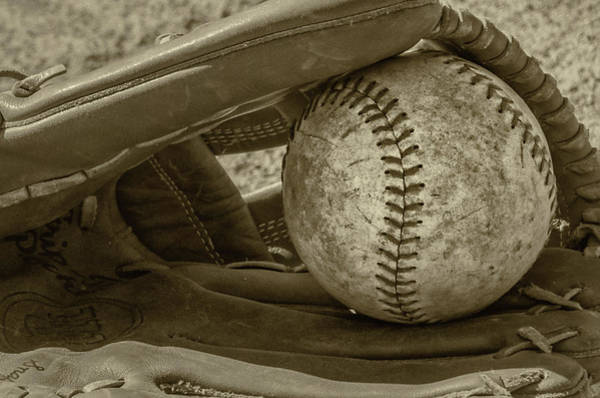 Softball Photograph - Game Ball by Bill Cannon