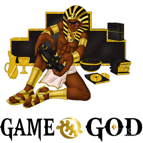 Wall Art - Digital Art - Game God  by Respect the Queen