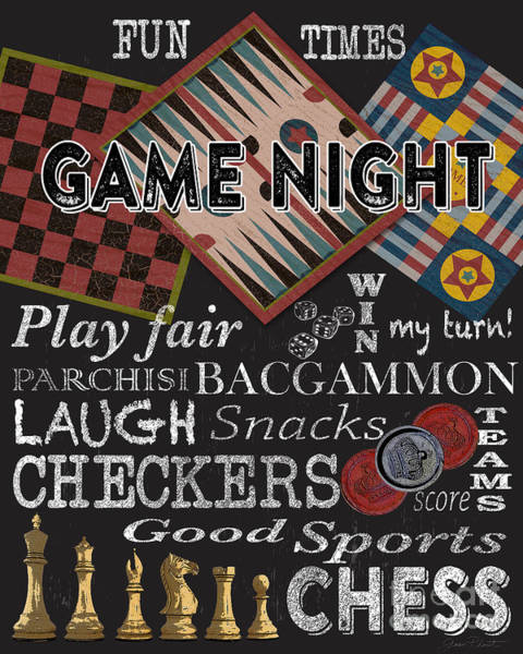 Gaming Painting - Game Night-jp3500 by Jean Plout
