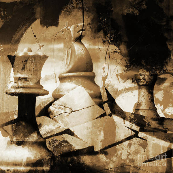 Wall Art - Painting - Game Of Chess by Gull G