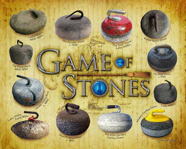 Robbie Digital Art - Game Of Stones by Chris Rhynas