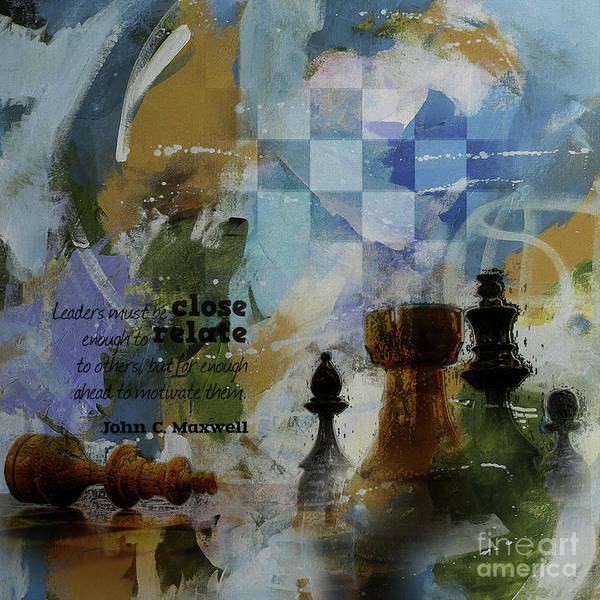 Wall Art - Painting - Game Of Thought  by Gull G