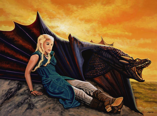 Game Painting - Game Of Thrones Painting by Paul Meijering
