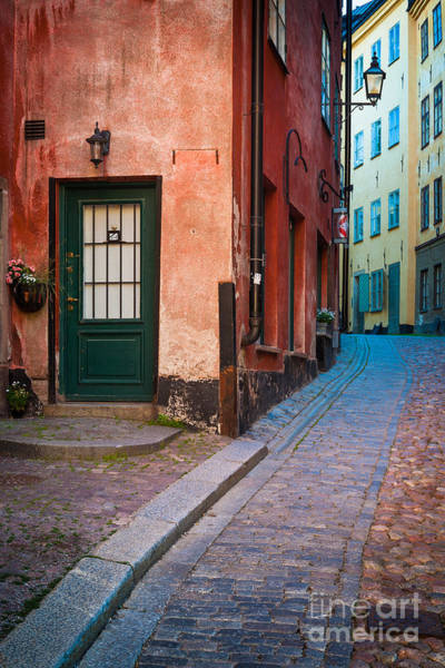 Town Square Photograph - Gamla Stan Alleys by Inge Johnsson