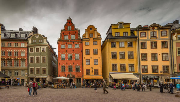 Town Square Mixed Media - Gamla Stan by Capt Gerry Hare